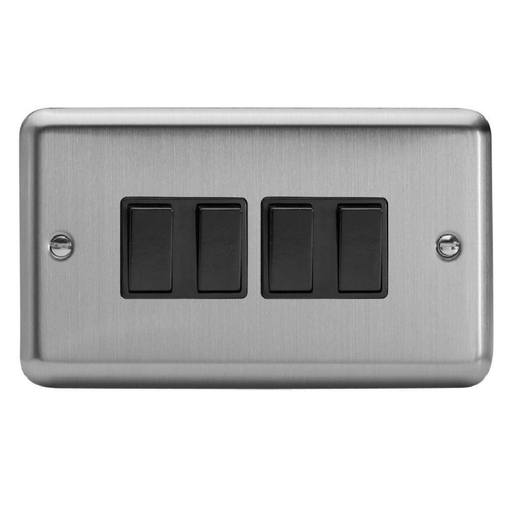Varilight XS9B | Matt Chrome Rocker Switch