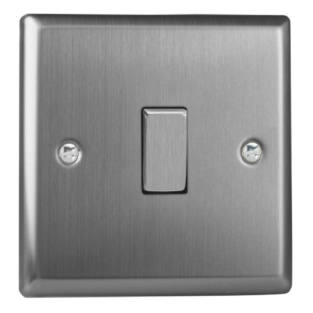 Varilight XT1D | Brushed Steel Classic Rocker Switch