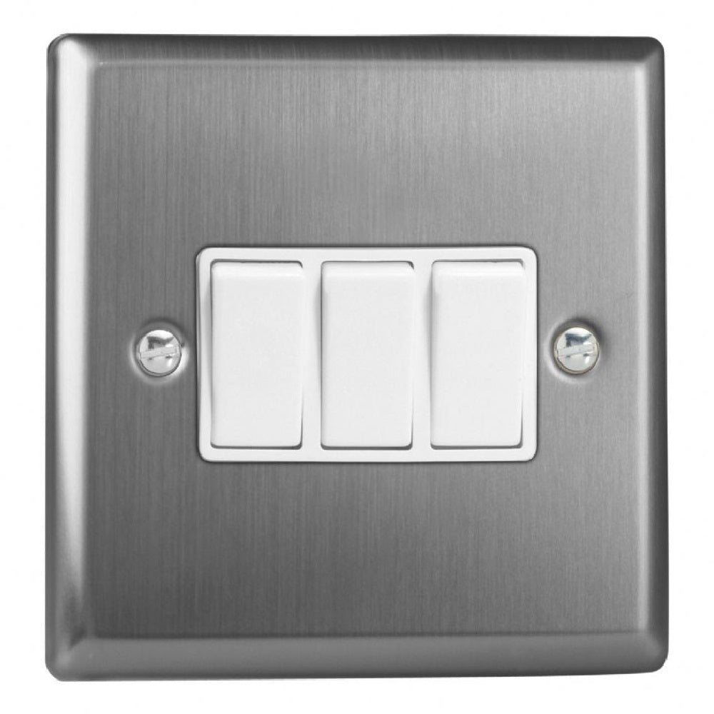 Varilight XT3W | Brushed Steel Classic Rocker Switch