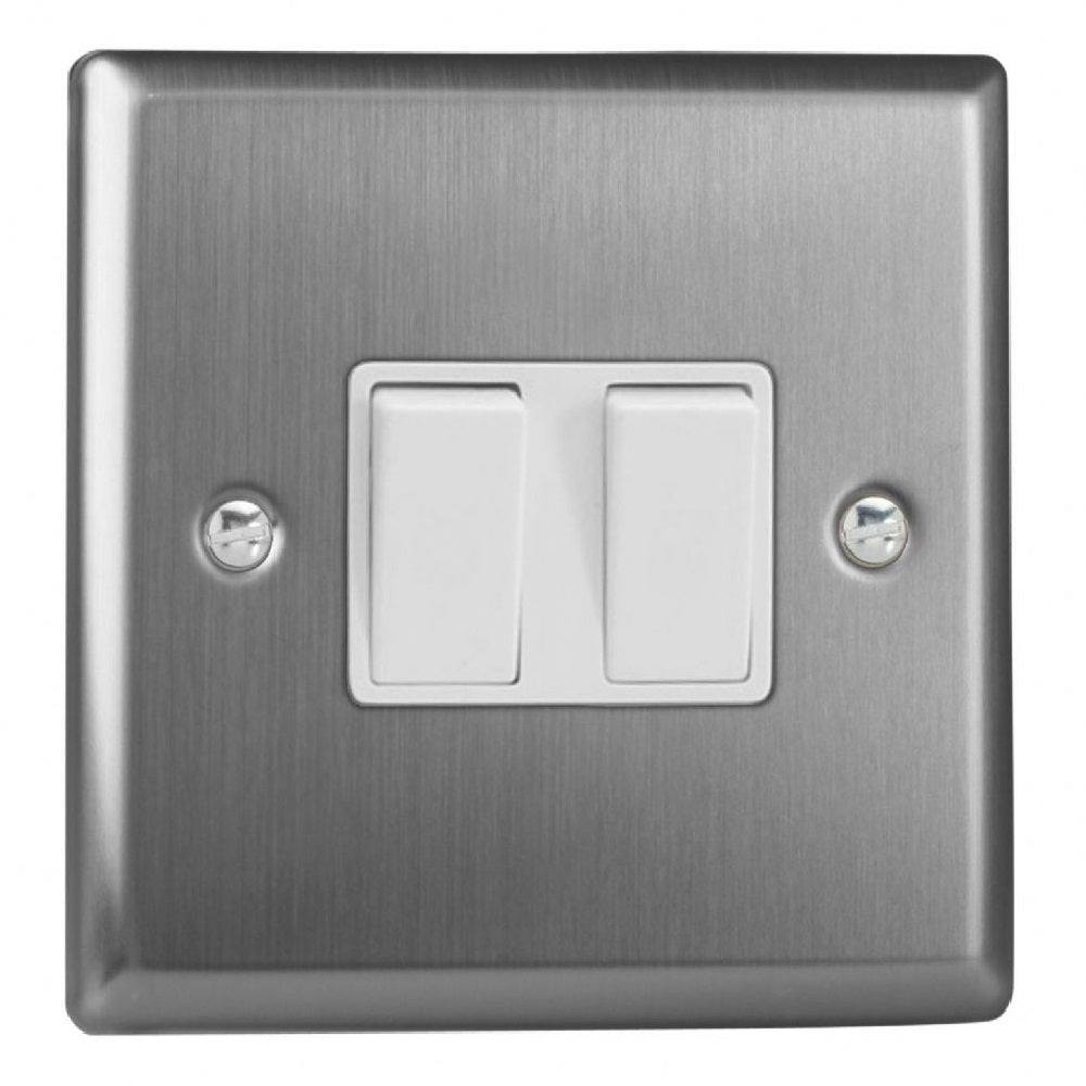 Varilight XT77W | Brushed Steel Classic Intermediate Switch