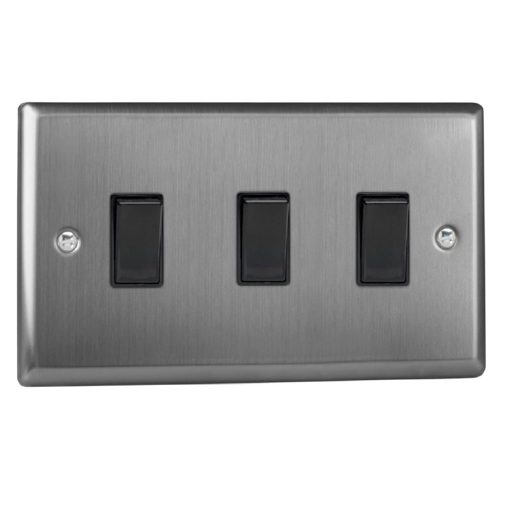 Varilight XT93B | Brushed Steel Classic Rocker Switch