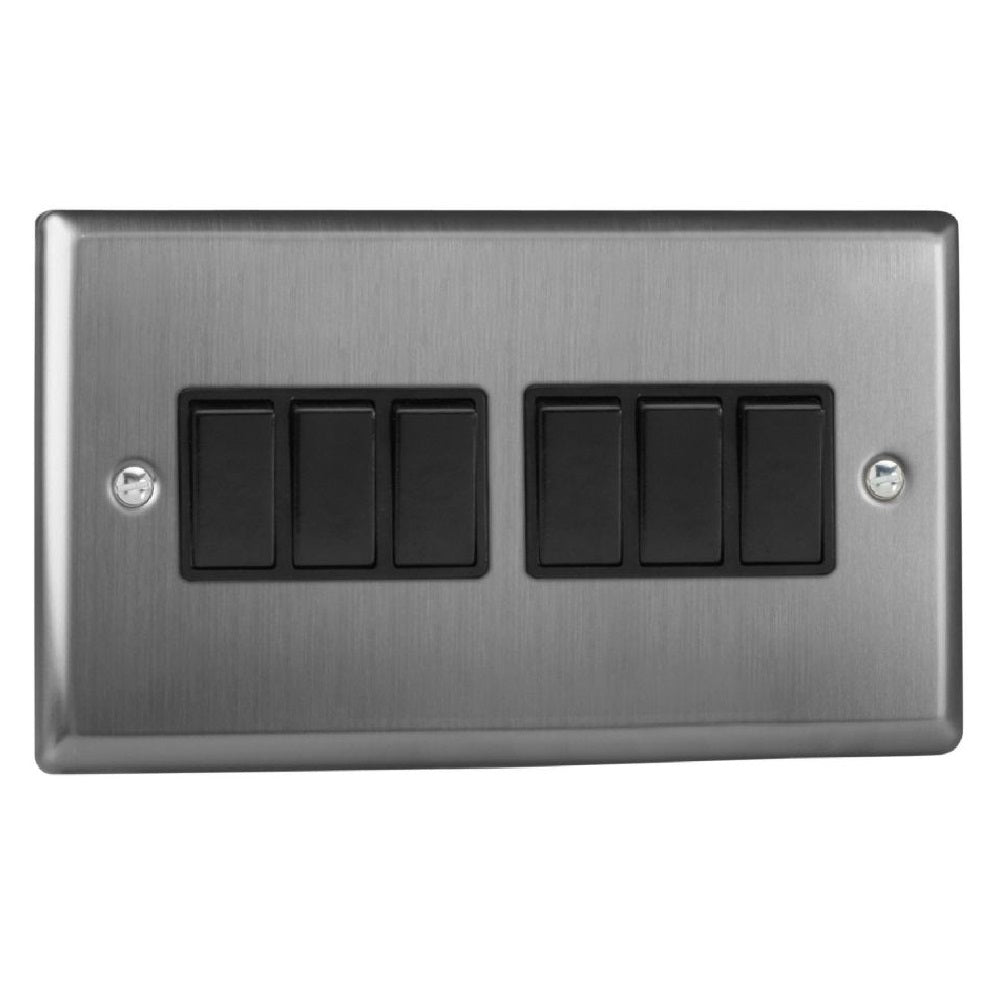 Varilight XT96B | Brushed Steel Classic Rocker Switch