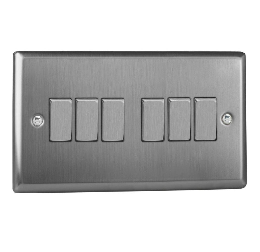 Varilight XT96D | Brushed Steel Classic Rocker Switch