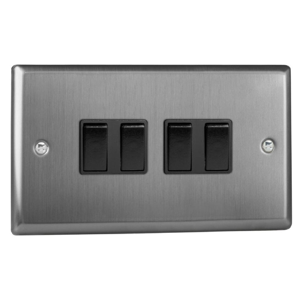 Varilight XT9B | Brushed Steel Classic Rocker Switch