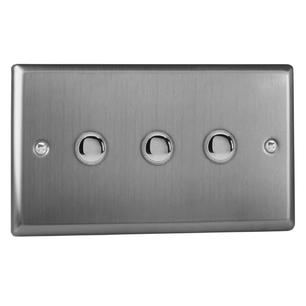 Varilight XTM3 | Brushed Steel Classic Momentary Switch