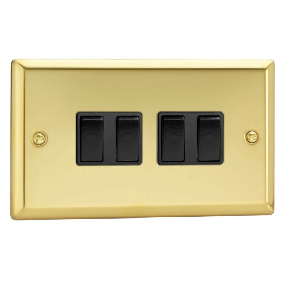 Varilight XV9B | Victorian Brass Classic Rocker Switch