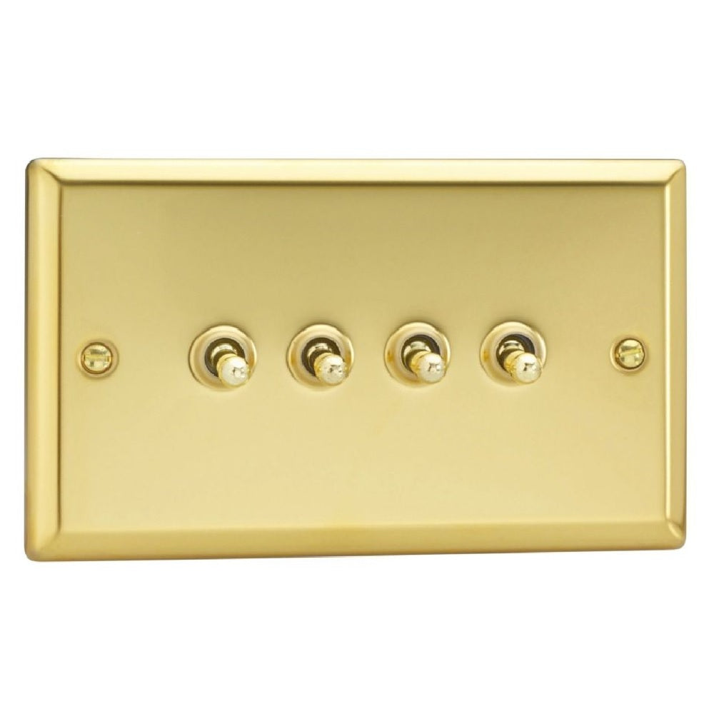 Varilight XVT9 | Victorian Brass Classic Toggle Switch