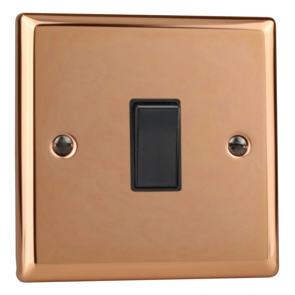Varilight XY1B.CU | Polished Copper Urban Rocker Switch | XY1BCU
