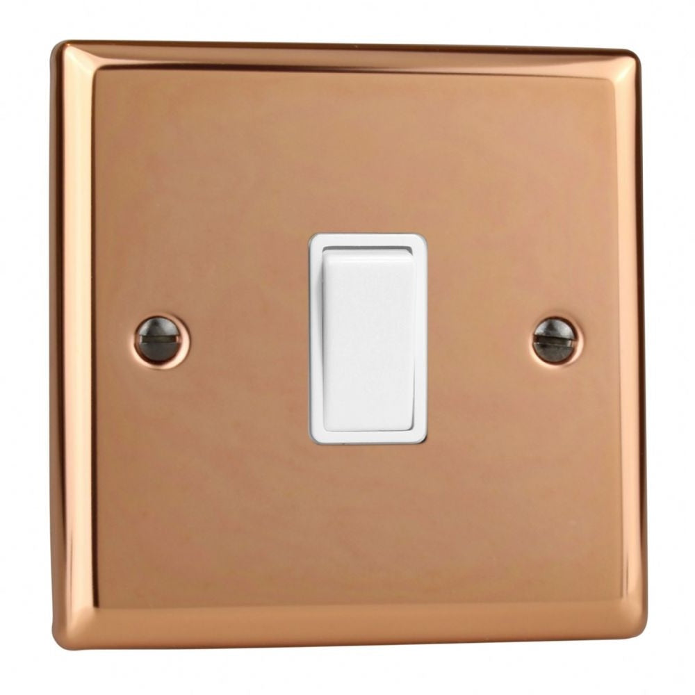 Varilight XY1W.CU | Polished Copper Urban Rocker Switch | XY1WCU