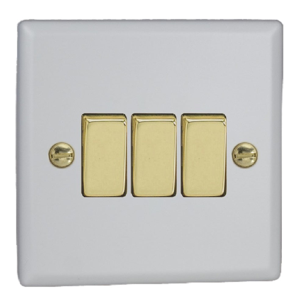 Varilight XY3V.MW | Matt White Vogue Rocker Switch | XY3VMW