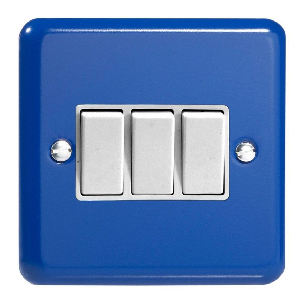 Varilight XY3W.RB | Reflex Blue Lily Rocker Switch | XY3WRB