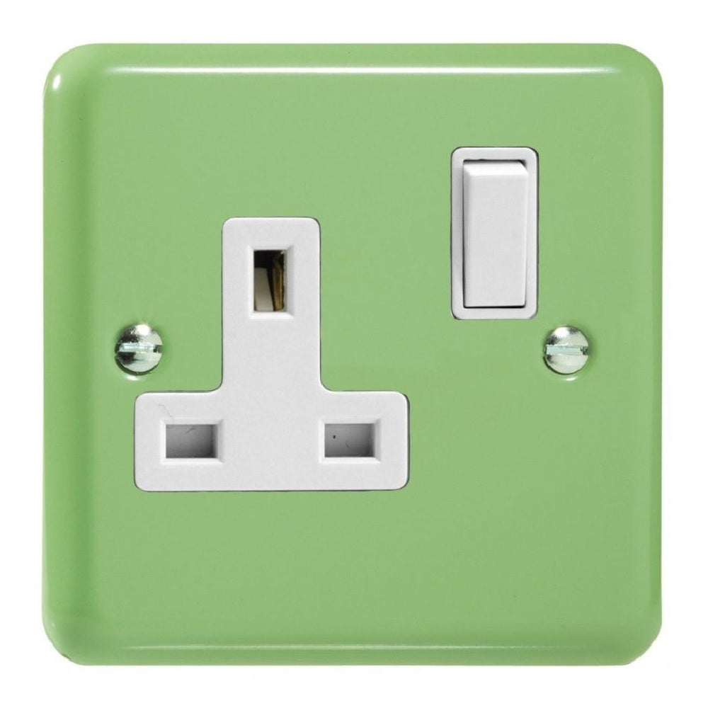 Varilight XY4W.BG | Beryl Green Lily Double Pole Socket | XY4WBG