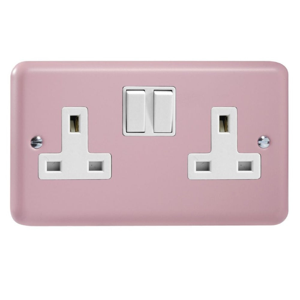 Varilight XY5W.RP | Rose Pink Lily Double Pole Socket | XY5WRP