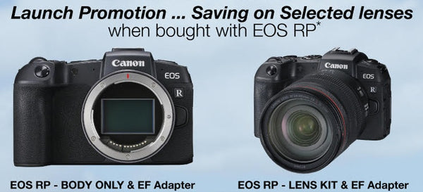 EOS RP Launch Promotion - save on selected lenses when purchased with an EOS RP Body