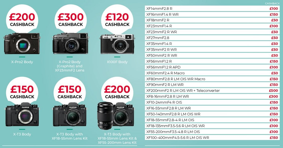 Claim up to £500 cashback with Fujifilm at Cambrian Photography