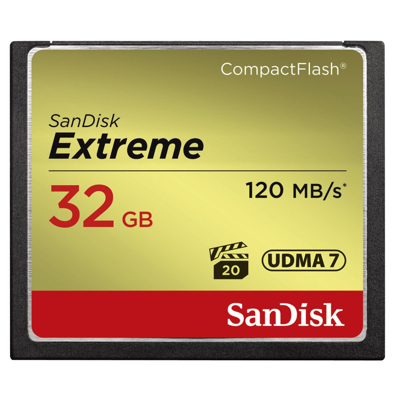 SanDisk Extreme 32GB 120MB/Sec Compact Flash Card