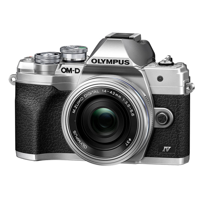 Olympus OM-D E-M10 Mark IV Digital Camera with 14-42mm lens - Silver