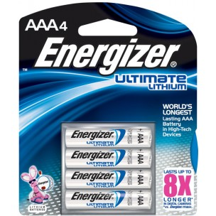 Energizer Ultimate Lithium AAA 4 Pack