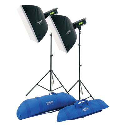 Lastolite Lumen8 Twin Head Softbox Kit - 400w