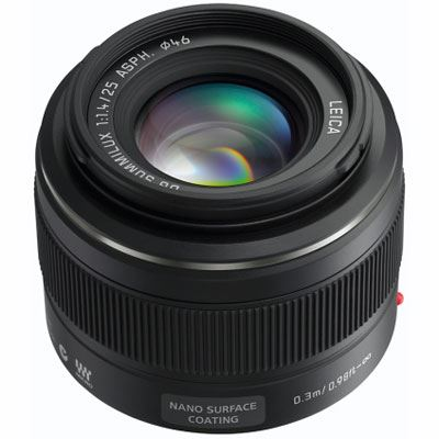 Panasonic 25mm f1.4 Leica DG Summilux Micro Four Thirds lens