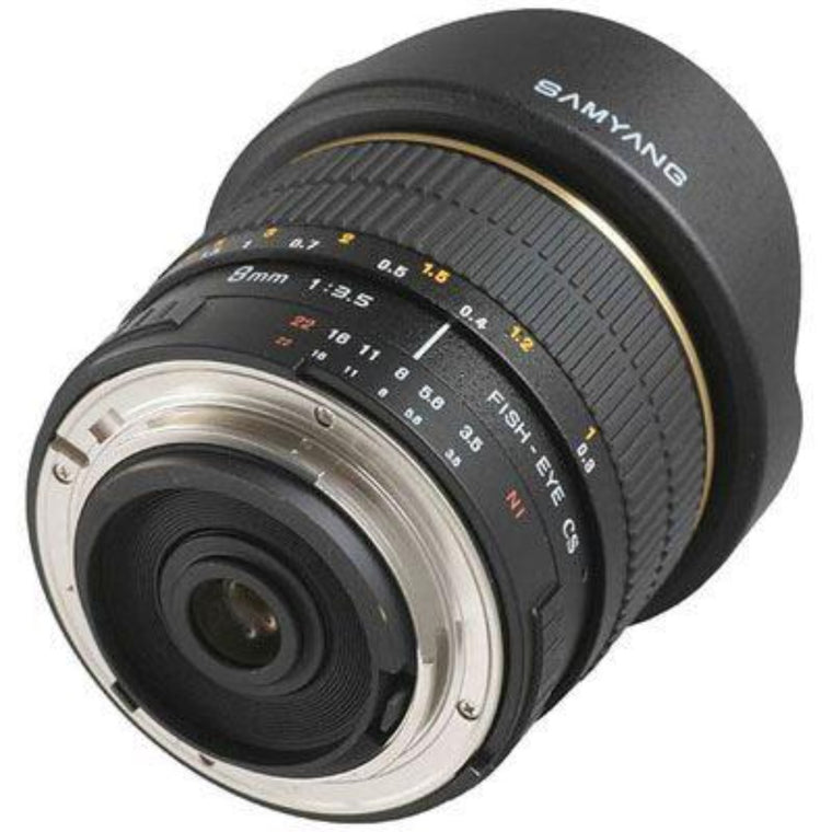 Samyang MF 8mm f3.5 IF MC Fisheye CS II Lens - Nikon F Mount