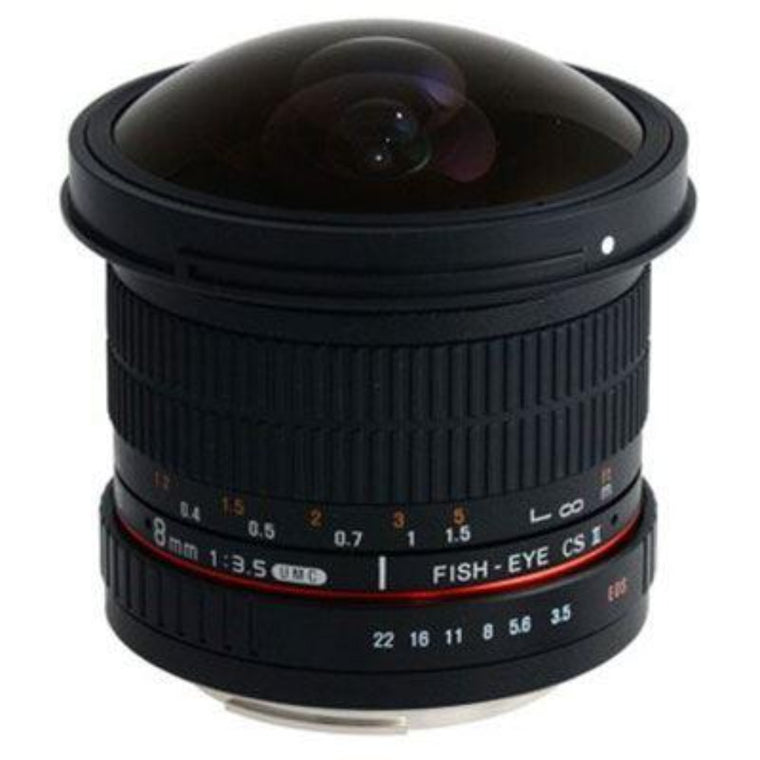 Samyang 8mm f3.5 Aspherical IF MC Fisheye CS II Lens - Canon Fit