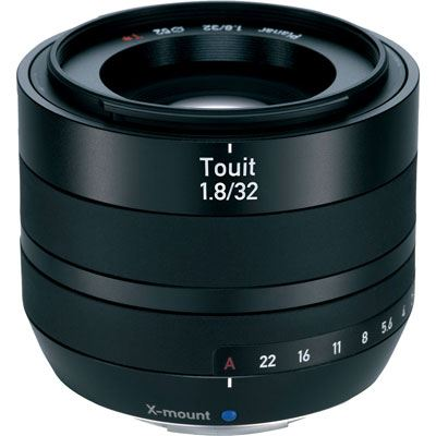 The Zeiss 32mm f1.8 E Touit Lens Fujifilm X-Mount Fit is a compact AF lens and has been specially made to fit the Fujifilm X compact system cameras that feature an X-mount. Cambrian Photography, Colwyn Bay, North Wales.
