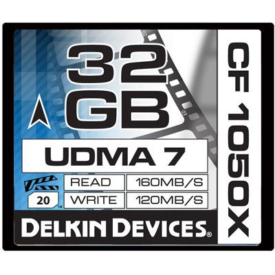 Delkin 32GB 1050X UDMA 7 Cinema Compact Flash