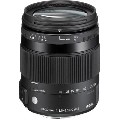 Sigma 18-200mm f3.5-6.3 DC Macro OS HSM Lens - Canon EF Mount