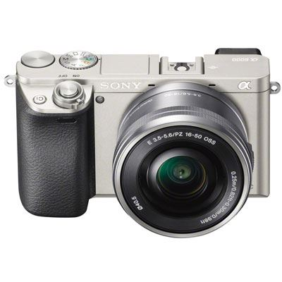 Sony Alpha A6000 Digital Camera with 16-50mm Power Zoom Lens - Silver