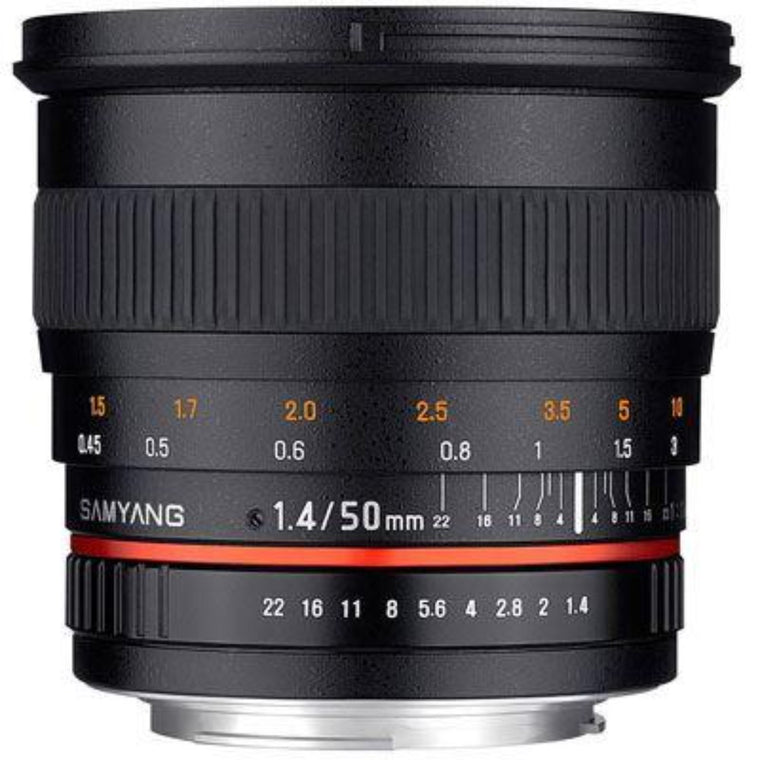 Samyang 50mm f1.4 AS UMC Lens - Canon Fit