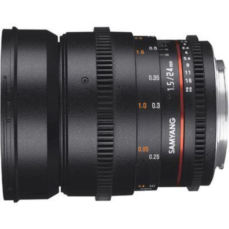 Samyang 24mm T1.5 ED AS IF UMC II VDSLR Lens - Nikon Fit