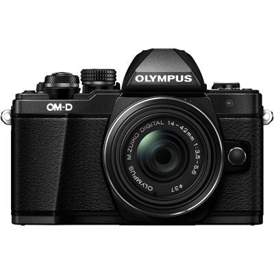 Olympus OM-D E-M10 Mark II Digital Camera with 14-42mm EZ Lens and 40-150mm Lens - Black