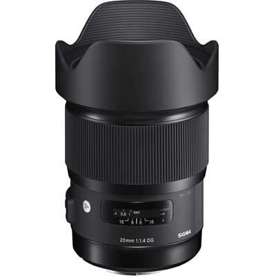 Sigma 20mm f1.4 DG HSM Art Lens - Canon Fit