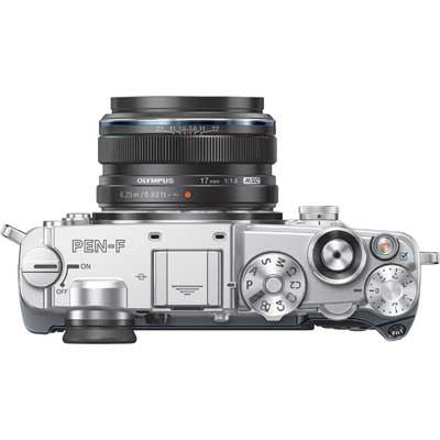 Olympus PEN-F with 17mm ED Lens Silver/Black