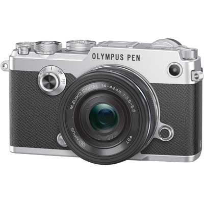 Olympus PEN-F with 14-42mm EZ ED Lens - Silver/Black