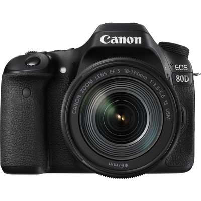 Canon EOS 80D Digital SLR Camera with 18-135mm IS USM Lens