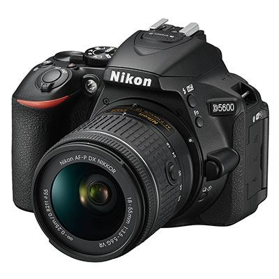 Nikon D5600 Digital SLR Camera with AF- P 18-55mm Lens
