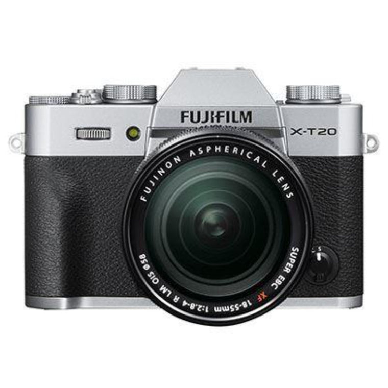Fujifilm X-T20 Digital Camera Body wth 18-55 mm Mark II Lens - Silver