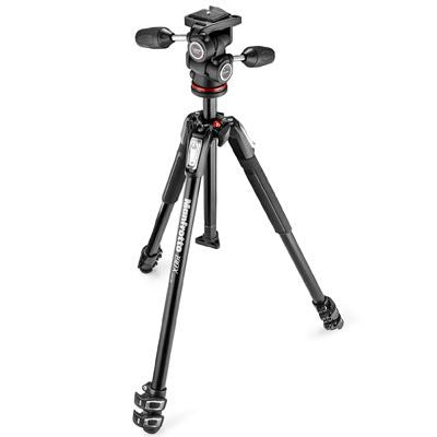 Manfrotto MK190X3 Tripod + 804 Tripod Head Kit