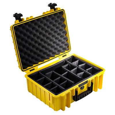 B+W Case 5000 Yellow+Dividers