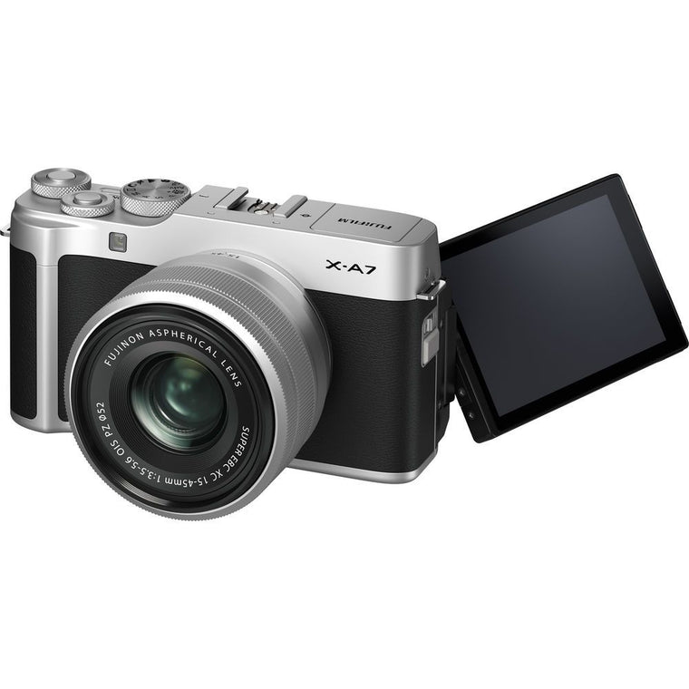 Fujifilm X-A7 with XC 15-45mm - Vlogger Kit - Silver