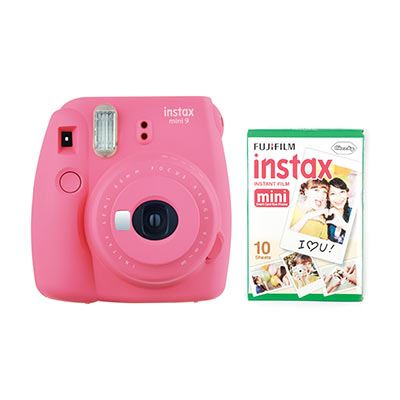 Fujifilm Instax Mini 9 Instant Camera with 10 shots - Flamingo Pink