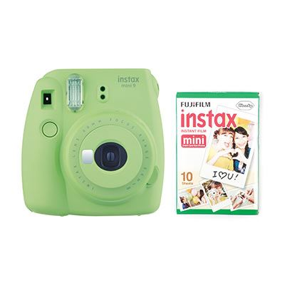 Fujifilm Instax Mini 9 Instant Camera with 10 shots - Lime Green
