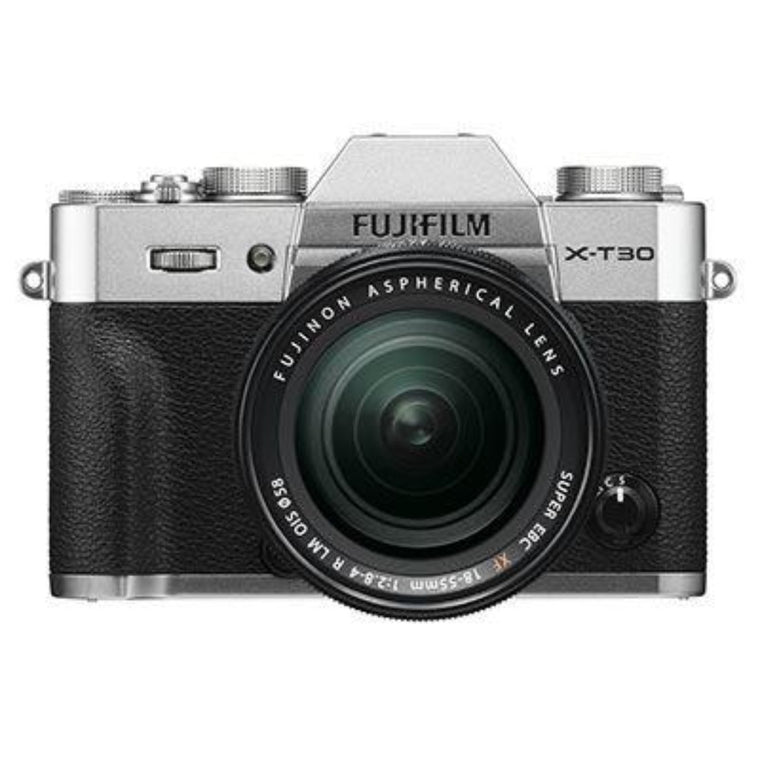 Fujifilm X-T30 Digital Camera with XF 18-55mm Lens - Silver