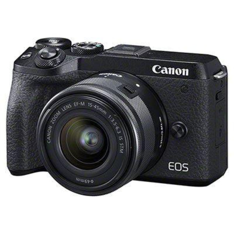 Canon EOS M6 II Digital Camera with 15-45mm IS STM Lens & EVF-DC2
