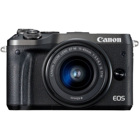 Canon EOS-M6 + EF-M 15-45mm IS STM Camera Body - Black
