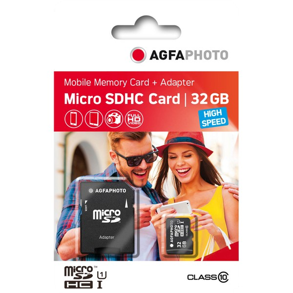 AgfaPhoto 32GB Micro SDHC UHS-1+Adapter