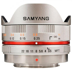 Samyang 7.5mm f3.5 UMC Fish-Eye Lens - Silver - Micro Four Thirds