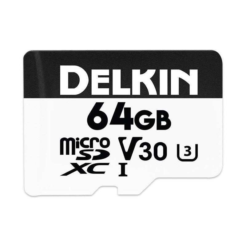 Delkin Advantage 64GB Micro SDXC (V30) Memory Card 100MB/s